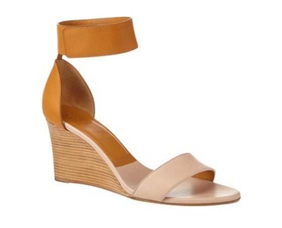 Two-tone wedge sandal, Chloé, €470 at Brown Thomas