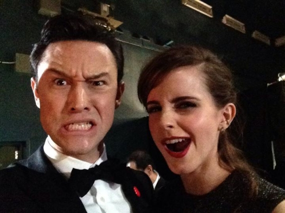 Emma Watson and Joseph Gordon Levitt