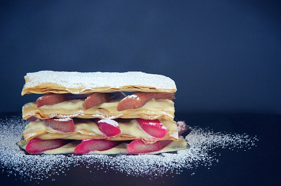 Rhubarb Mille feuille