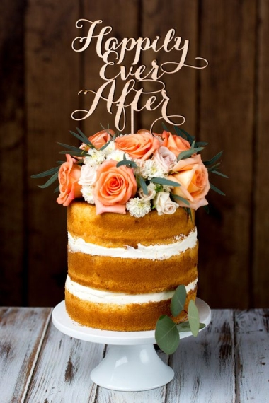 Better Off Wed Rustics Wedding Cake, etsy.com