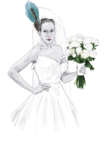 Carrie Bradshaw Illustration
