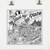'This Must Be The Place' hand screen-print by Eric Greene for Damn Fine Print