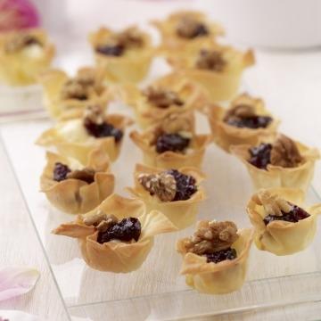 Brie & Blackcurrant Tartlets