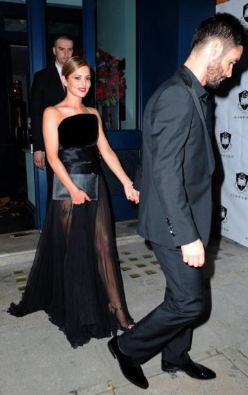 Cheryl wearing Ralph & Russo