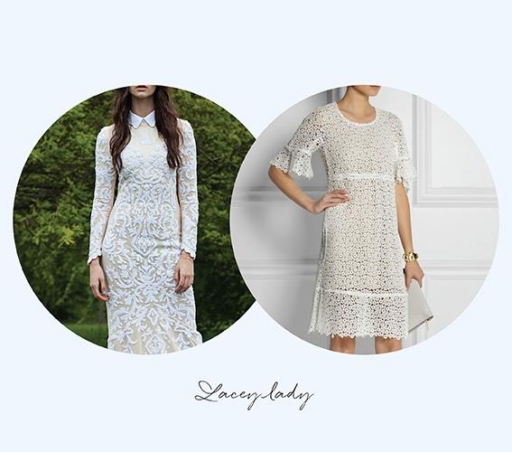 Guipure lace dress, Chloé, €2,150 at netaporter.com