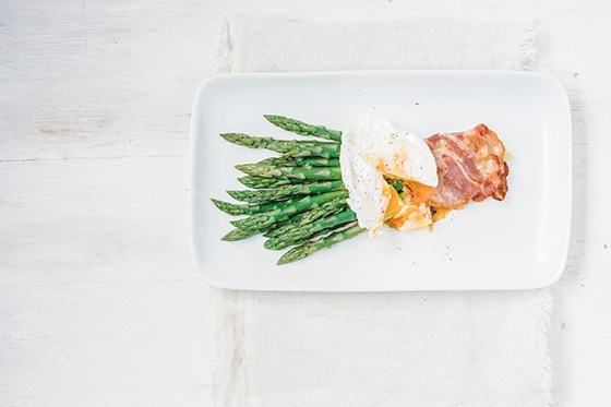 Egg, Bacon 7 Asparagus