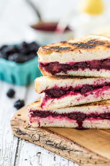 Lemon, Lavender, Blackberry & Ricotta Grilled Cheese Sandwiches