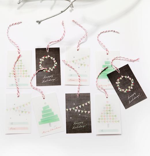 Festive tags