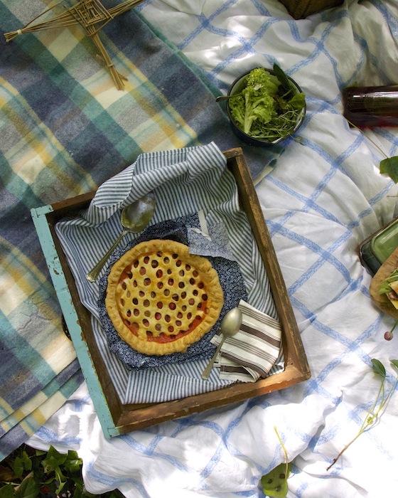 Imen McDonnell's strawberry and rhubarb pie with wild Irish rosewater glaze