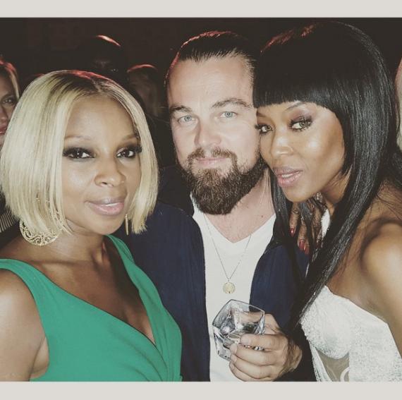 Naomi Cambell, leonardo DiCaprio & Mary J Blige