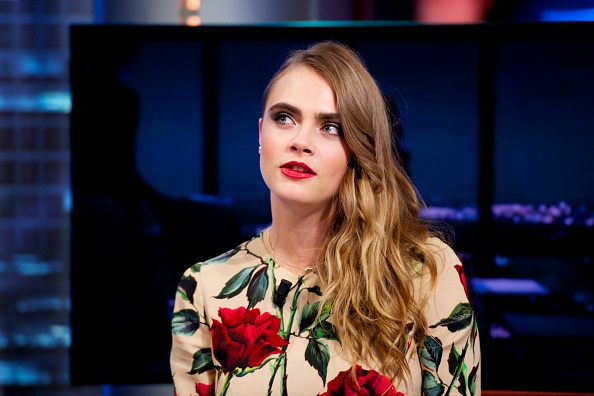 MADRID, SPAIN - JULY 08: Cara Delevingne attends 'El Hormiguero' Tv show at Vertice Studio on July 8, 2015 in Madrid, Spain. (Photo by Juan Naharro Gimenez/Getty Images)