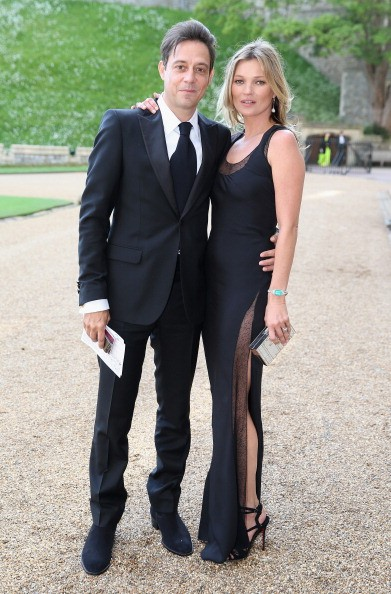 WINDSOR, ENGLAND - MAY 13: Kate Moss and Jamie Hince arrives for a dinner to celebrate the work of The Royal Marsden hosted by the Duke of Cambridge at Windsor Castle on May 13, 2014 in Windsor, England. (Photo by Chris Jackson/Getty Images)