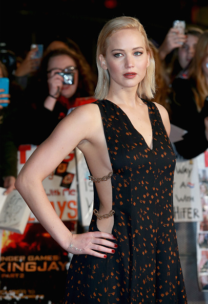 """attends """"The Hunger Games: Mockingjay Part 2"""" UK Premiere at the Odeon Leicester Square on November 5, 2015 in London, England."""