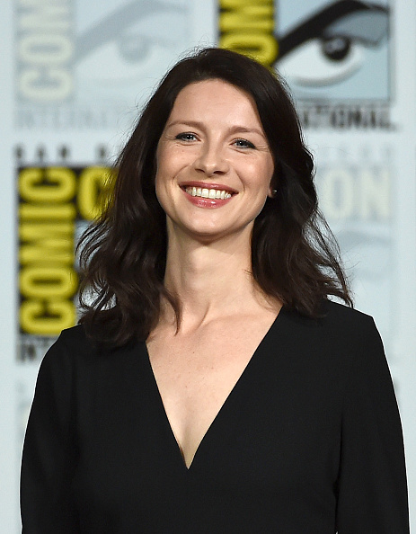 """SAN DIEGO, CA - JULY 11: Actress Caitriona Balfe attends the Starz: """"Outlander"""" panel during Comic-Con International 2015 at the San Diego Convention Center on July 11, 2015 in San Diego, California. (Photo by Ethan Miller/Getty Images)"""