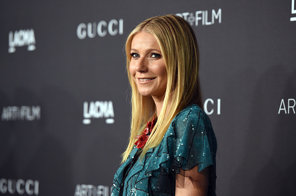 LOS ANGELES, CA - NOVEMBER 07: Actress Gwyneth Paltrow, wearing Gucci, attends LACMA 2015 Art+Film Gala Honoring James Turrell and Alejandro G Iñárritu, Presented by Gucci at LACMA on November 7, 2015 in Los Angeles, California. (Photo by Jason Merritt/Getty Images for LACMA)