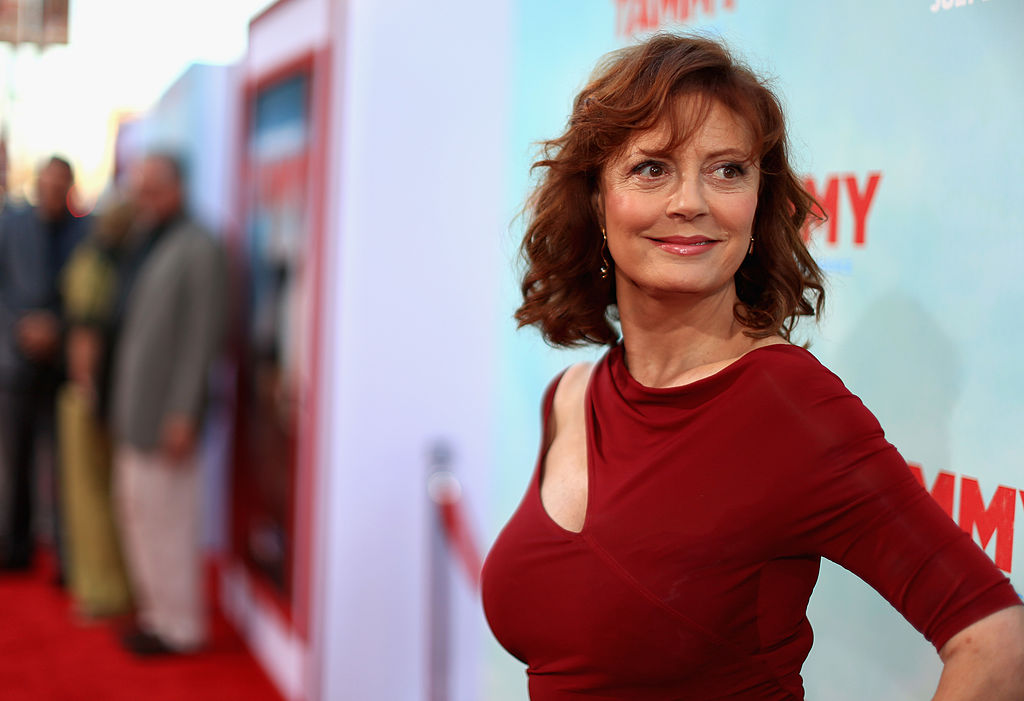 """HOLLYWOOD, CA - JUNE 30:  Actress Susan Sarandon attends the """"Tammy"""" Los Angeles premiere at TCL Chinese Theatre on June 30, 2014 in Hollywood, California.  (Photo by Christopher Polk/Getty Images)"""