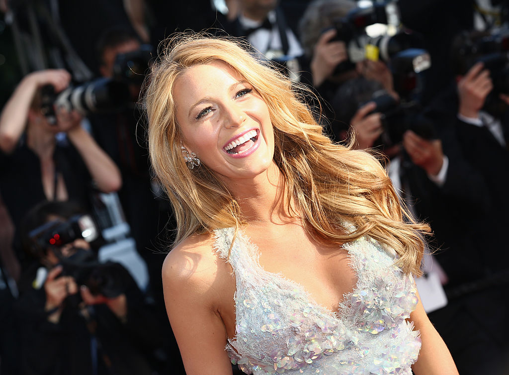 """CANNES, FRANCE - MAY 15:  Actress Blake Lively attends the """"Mr. Turner"""" premiere during the 67th Annual Cannes Film Festival on May 15, 2014 in Cannes, France.  (Photo by Tim P. Whitby/Getty Images)"""